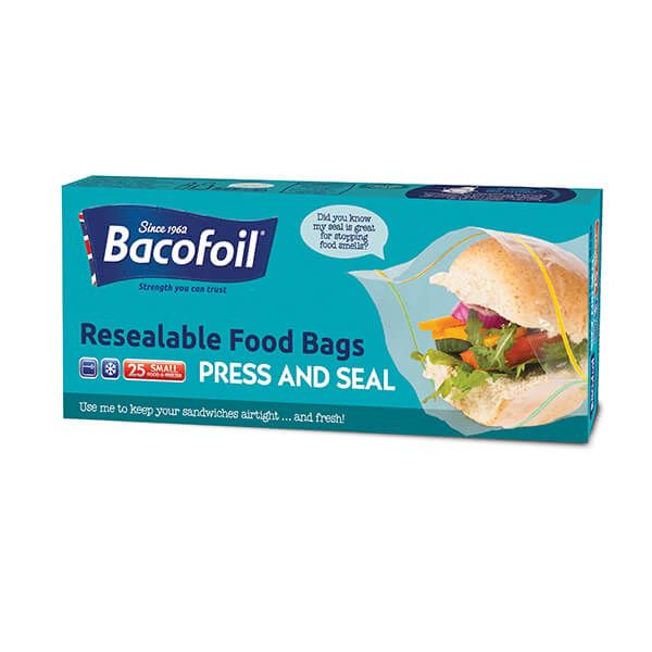 Bacofoil 25 x Resealable Food Bags Press & Seal