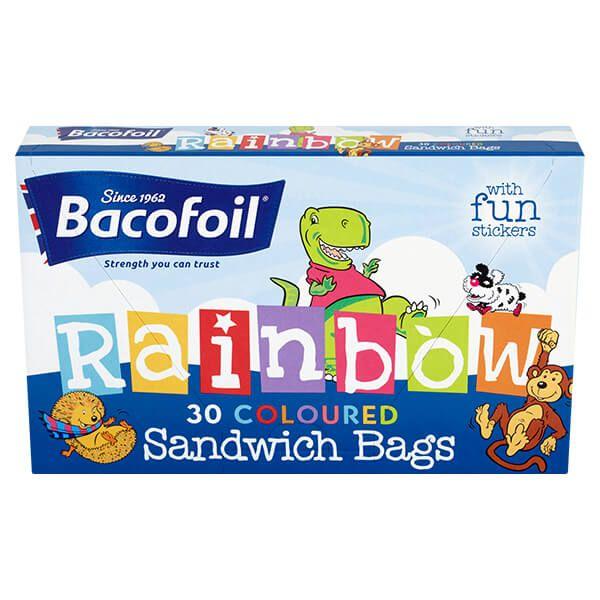 Bacofoil 30 x Rainbow Sandwich Bags
