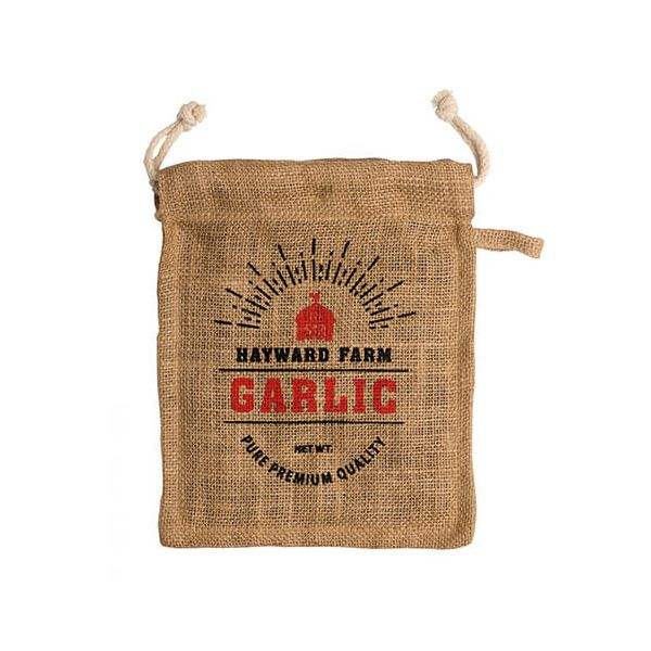 Eddingtons Jute Hayward Farm Garlic Bag