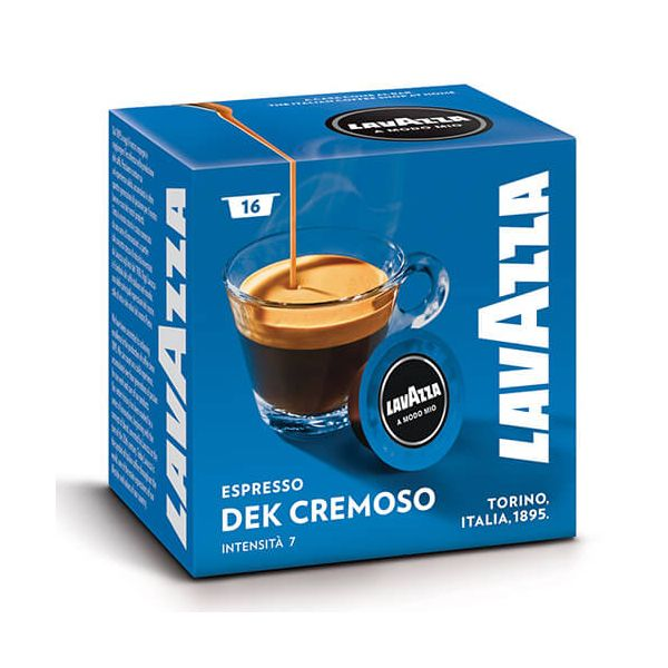 Lavazza Dek Cremoso Decaffeinated Coffee Capsule Set Of 16