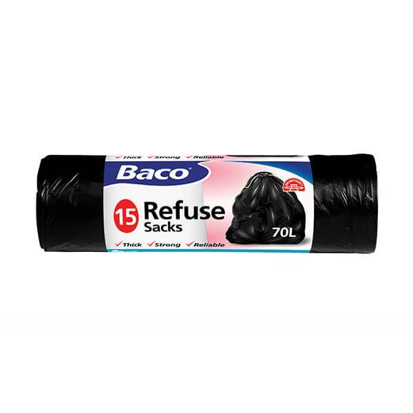 Baco 15 x 70L Drawtight Refuse Sacks