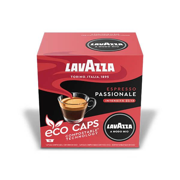 Lavazza Passionale Eco Cap Compostable Capsule Box of 16