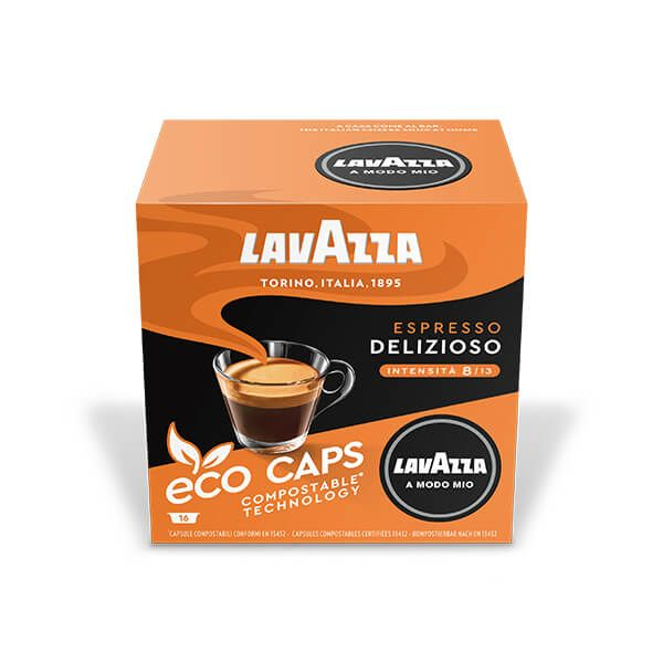 Lavazza Delizioso Eco Cap Compostable Capsule Box of 16