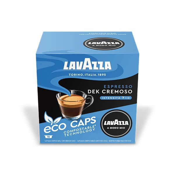Lavazza Dek Cremoso Eco Cap Compostable Capsule Box of 16