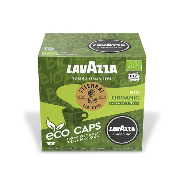 Lavazza Tierra Bio Eco Cap Compostable Capsule Box of 16