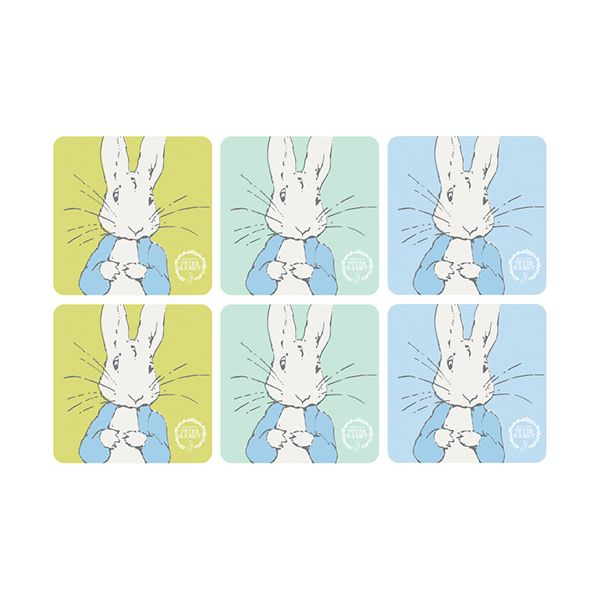 Peter Rabbit Contemporary Set Of 6 Coasters