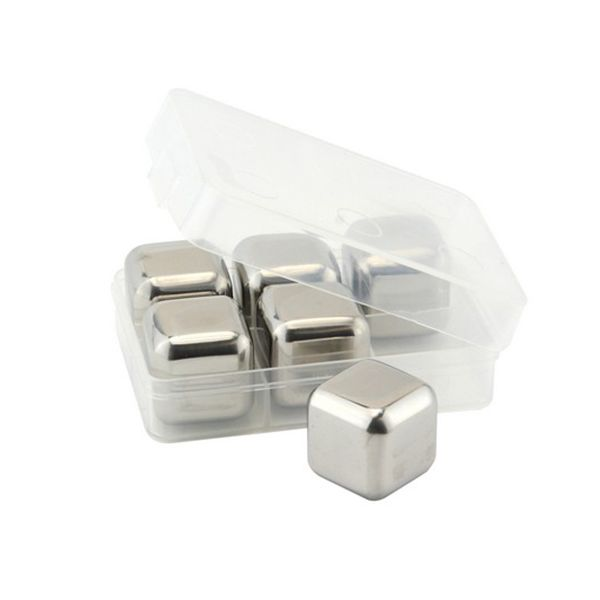 Apollo Set of 6 Stainless Steel Ice Cubes