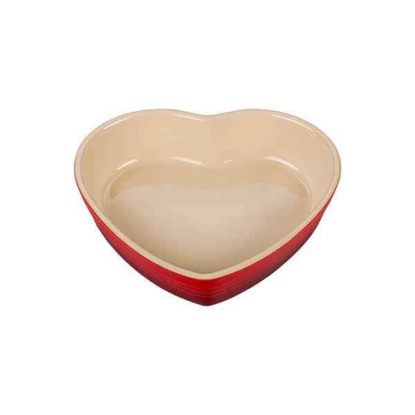 Le Creuset Cerise 20cm Stoneware Heart Baking Dish