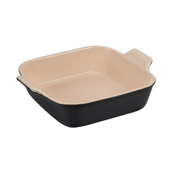 Le Creuset Satin Black Stoneware 23cm Heritage Square Dish
