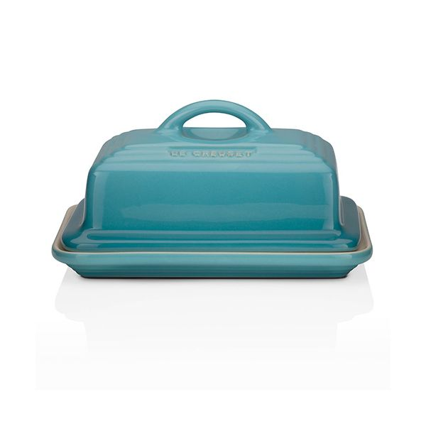 Le Creuset Teal Stoneware Butter Dish
