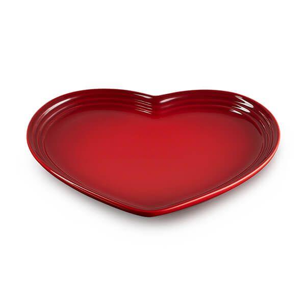 Le Creuset Cerise Stoneware Heart Plate