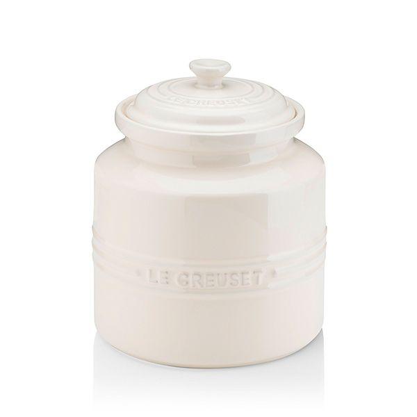 Le Creuset Almond Stoneware Biscuit Jar