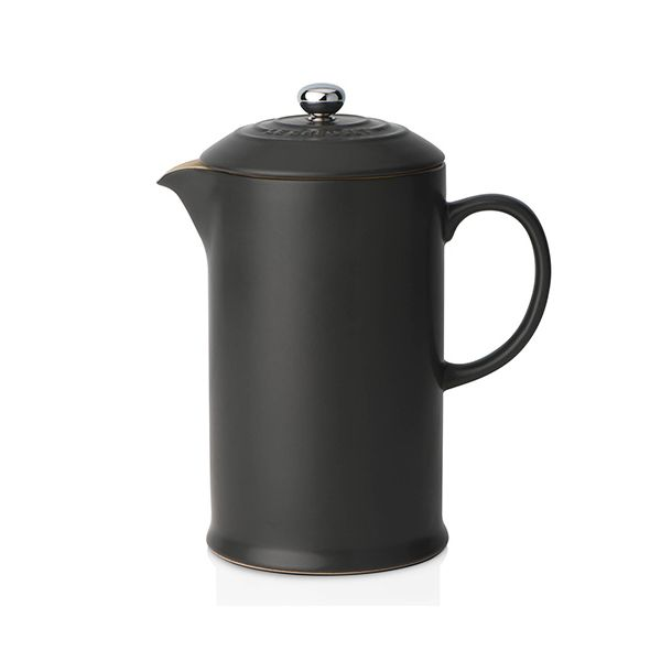 Le Creuset Black Stoneware Coffee Pot & Press