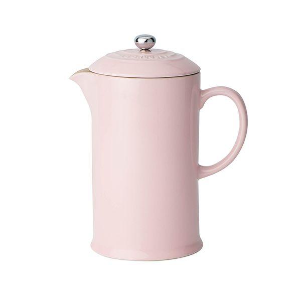 Le Creuset Chiffon Pink Stoneware Cafetiere