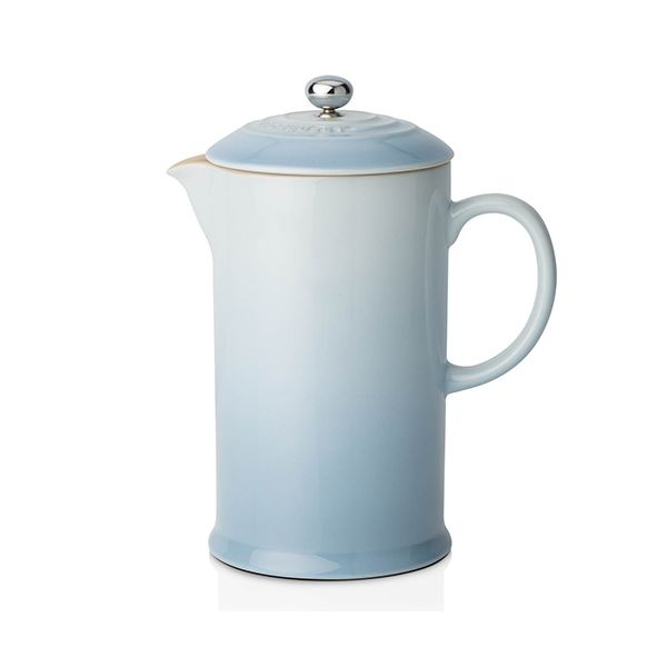 Le Creuset Coastal Blue Stoneware Coffee Pot & Press