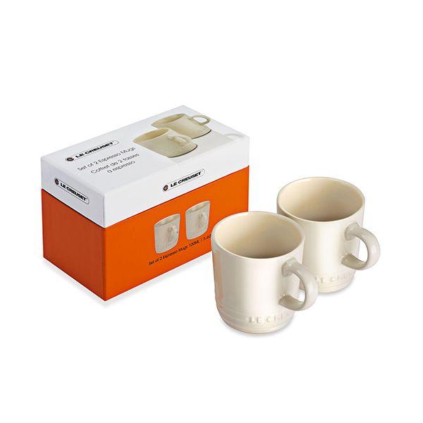 Le Creuset Almond Stoneware Espresso Mug Set Of 2 Gift Box
