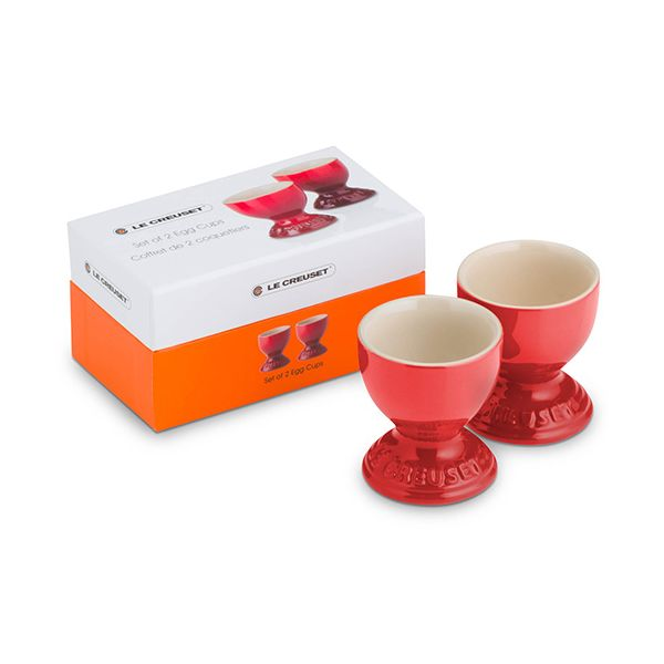 Le Creuset Cerise Stoneware Egg Cup Set Of 2 Gift Box