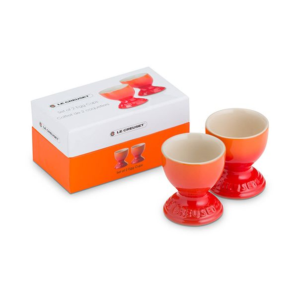 Le Creuset Volcanic Stoneware Egg Cup Set Of 2 Gift Box