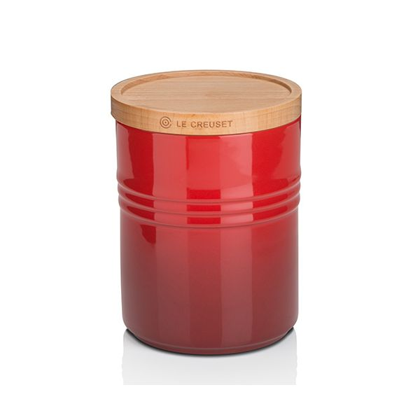 Le Creuset Cerise Stoneware Medium Storage Jar