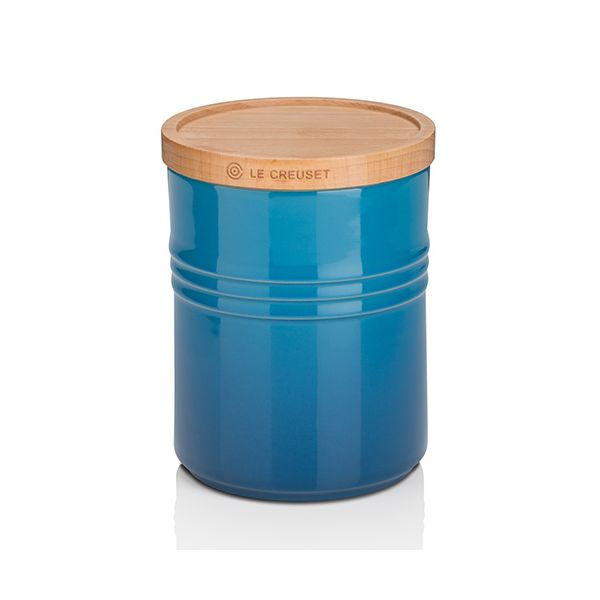 Le Creuset Marseille Blue Stoneware Medium Storage Jar