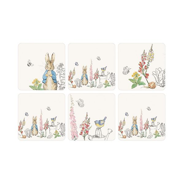 Peter Rabbit Classic Set Of 6 Coasters