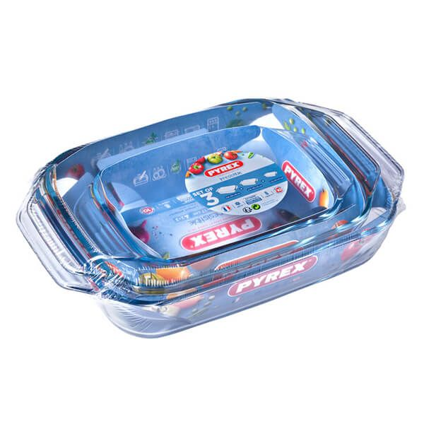 Pyrex 3 Piece Roaster Set