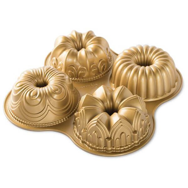 Nordic Ware Bundt Quartet Pan Gold