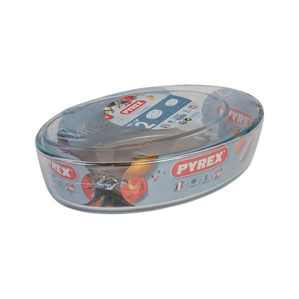 Pyrex Essentials 2 Piece Roaster Set