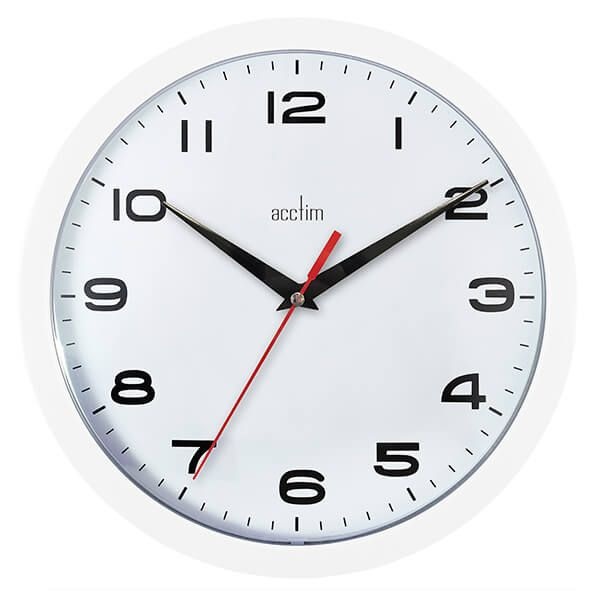 Acctim Aylesbury Wall Clock White