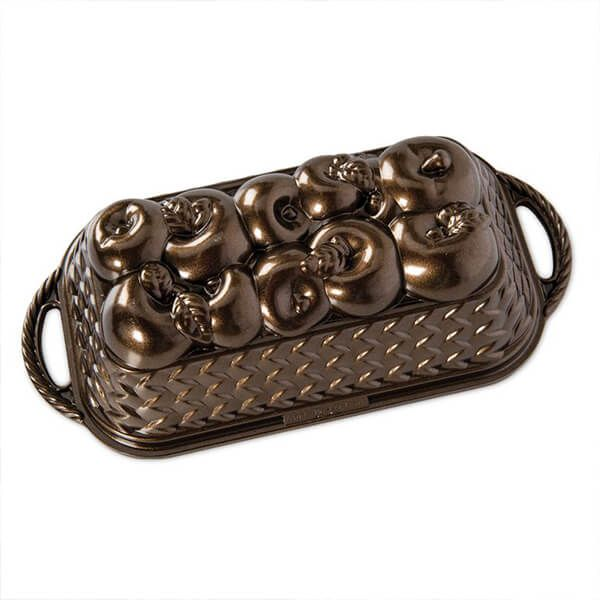 Nordic Ware Apple Baskets Pan Bronze