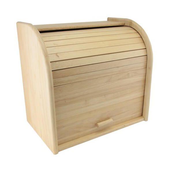 Rubber Wood Bread Bin Double Decker