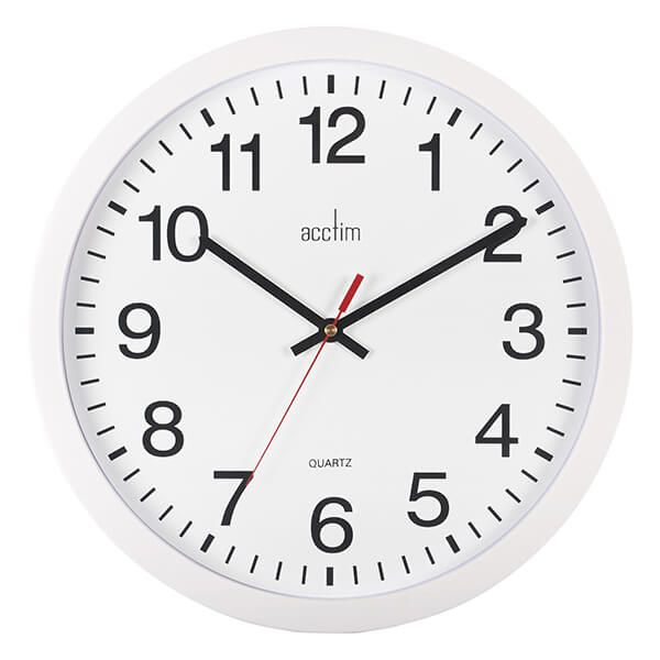 Acctim Controller Wall Clock White