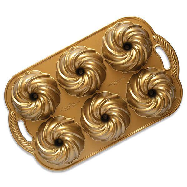 Nordic Ware Gold Swirl Bundtlette