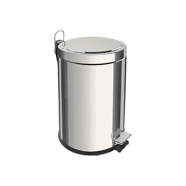 Tramontina Polished Stainless Steel Pedal Bin 3L