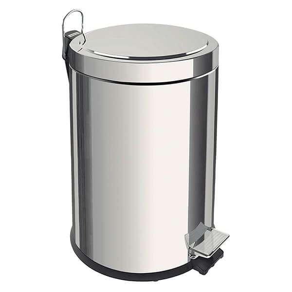 Tramontina Polished Stainless Steel Pedal Bin 30L