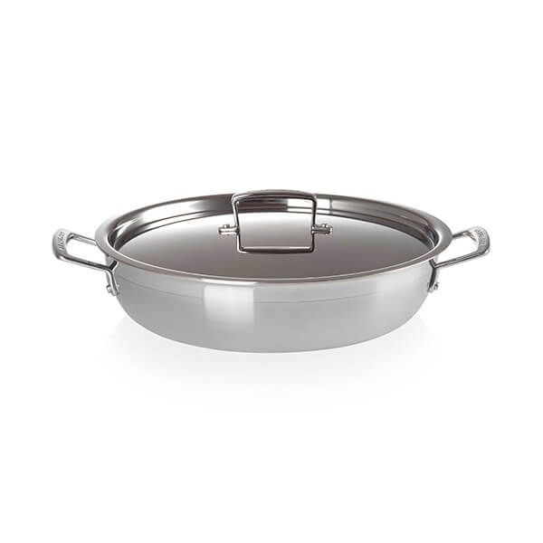 Le Creuset 3-Ply Stainless Steel 30cm Shallow Casserole