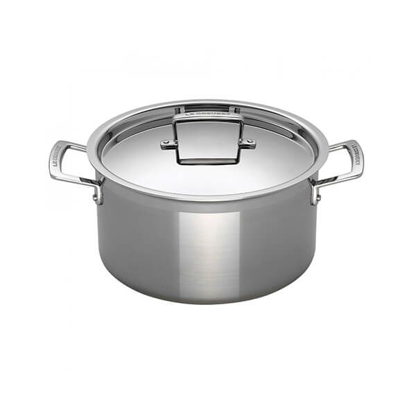 Le Creuset 18cm 3-ply Stainless Steel Deep Casserole