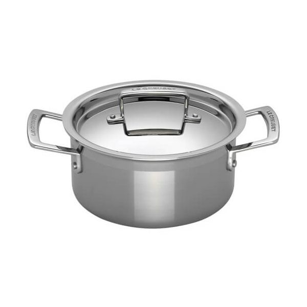 Le Creuset 3-ply Stainless Steel 20cm Deep Casserole
