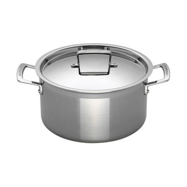 Le Creuset 3-ply Stainless Steel 24cm Deep Casserole