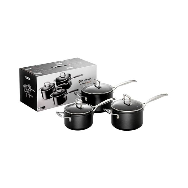 Le Creuset Toughened Non-Stick 3 Saucepan Set