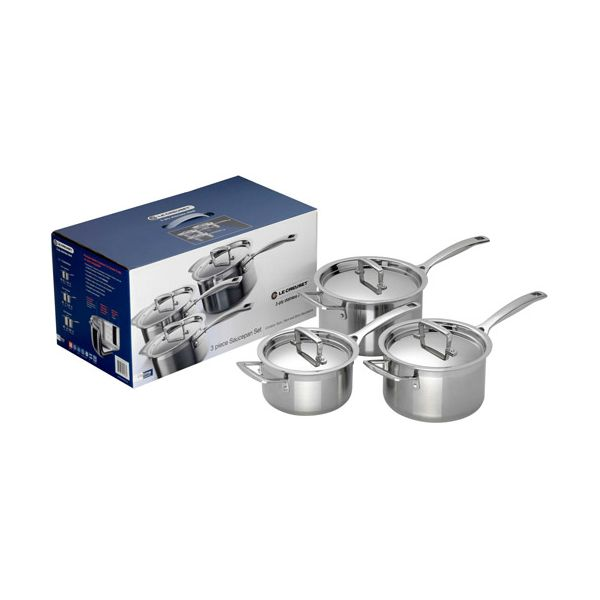 Le Creuset 3-ply Stainless Steel 3 Saucepan Set