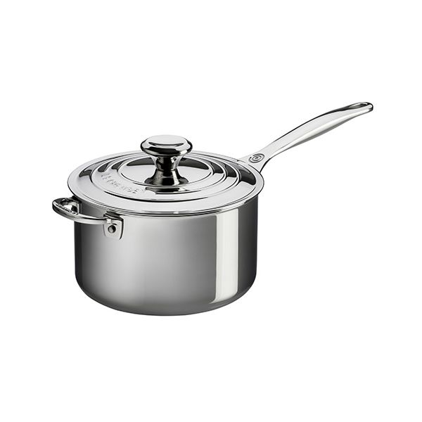 Le Creuset Signature 3-Ply Stainless Steel 20cm Saucepan With Lid