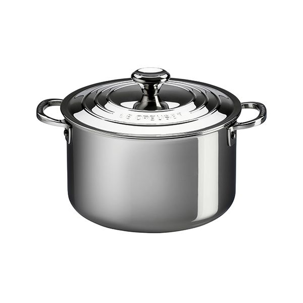 Le Creuset Signature 3-Ply Stainless Steel 28cm Stockpot With Lid