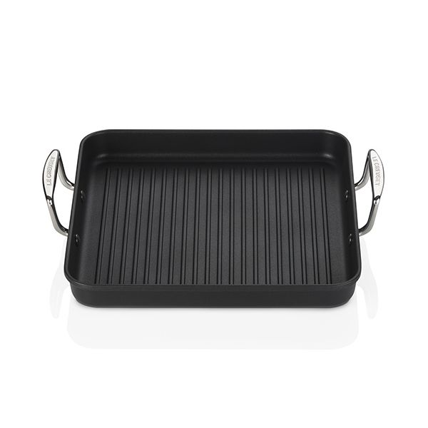 Le Creuset Toughened Non-Stick 28cm Square Grill with Handles