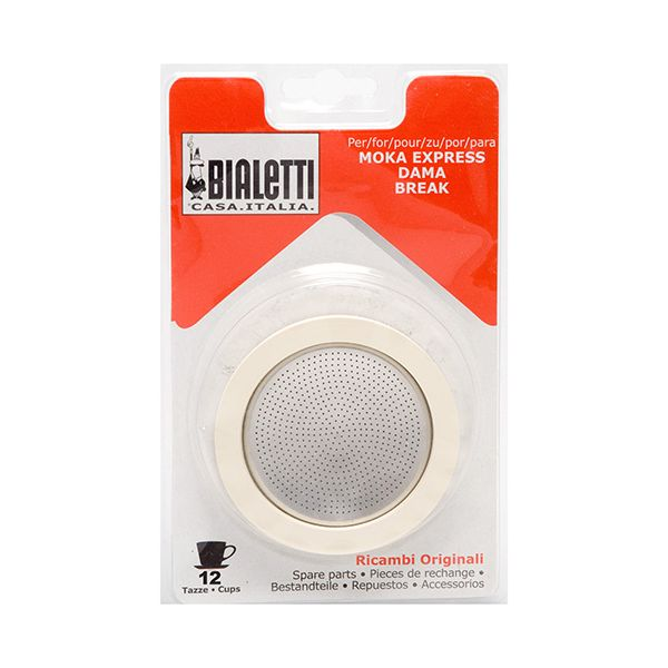 Bialetti 12 Cup Washer / Filter Set
