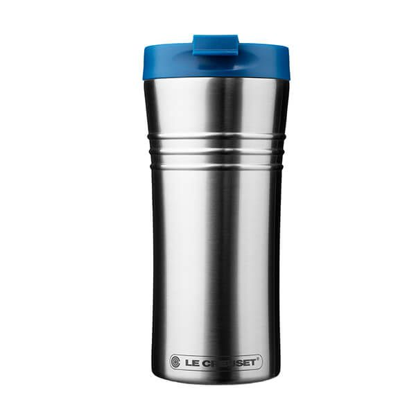 Le Creuset Marseille Blue Stainless Steel Travel Mug