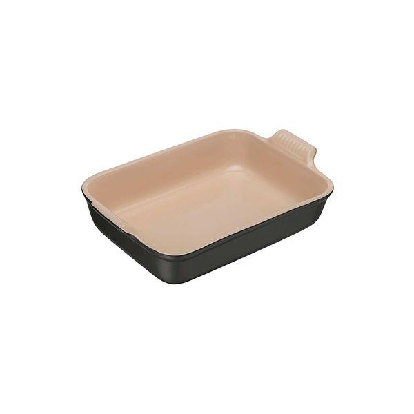 Le Creuset Satin Black Stoneware 19cm Deep Rectangular Dish