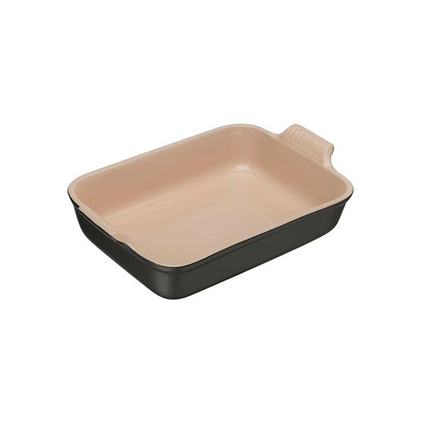 Le Creuset Satin Black Stoneware 26cm Deep Rectangular Dish