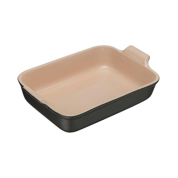 Le Creuset Satin Black Stoneware 32cm Deep Rectangular Dish