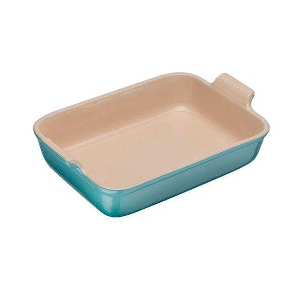 Le Creuset Teal Stoneware 32cm Deep Rectangular Dish